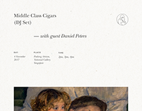Gig Poster for Middle Class Cigars (DJ Set)