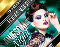 Awesome Night (Flyer Template 4x6)