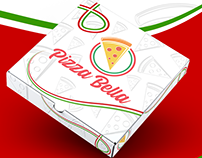 Pizza Bella Logo & Menu Designs