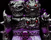 Krawluss the 2-Headed Creature of Doom Vinyl Toy