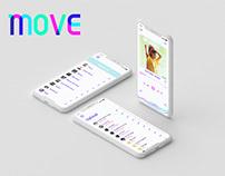 Move - Music App (Mobile Application) | UX/UI
