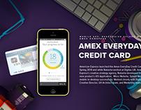 AMEX EVERYDAY CARD SPLASH DESKTOP/MOBILE WEBSITE DESIGN