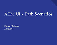UX - Personas & Task Scenarios for ATM Project