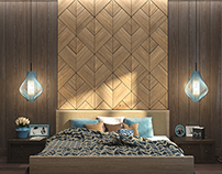 WoodWalls Tulip : wood panels for bedrooms