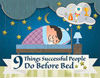 Infographic - 9 Things Successful People Do Before Bed