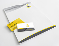 """Visiting Card and Letterhead for """"Venuehook"""""""