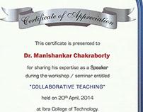 Certificates of Dr Manishankar Chakraborty, Set-3