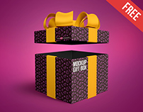 Free Gift Box Mock-up in PSD
