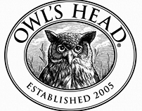 Owl's Head Logomark Illustrated by Steven Noble