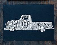 Old GMC truck lettering | Goshawaf