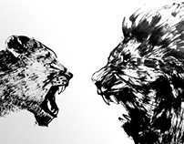 Chinese Ink Painting 03 - Roar