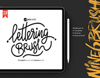 FREE PROCREATE LETTERING BRUSHES