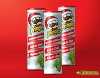 Pringles christmas edition packaging concept