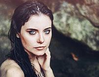 Francesca, blue eyes.