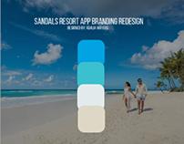 Sandals Resort App Branding Redesign