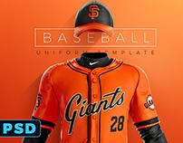 Grand Slam Baseball Uniform Template