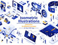 Modern flat design isometric illustration