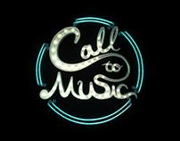 """Call to Music"" logo, website & mobile web"