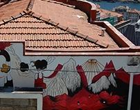 Mural miradouro de São Bento da Vitória, Porto