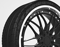 3D Alloy wheels