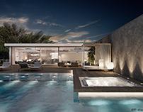 Ibiza villa. Outdoor pool area.