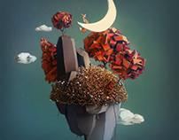 3D Illustration - Fantasy Island: Aerials