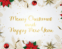 Merry christmas new year font