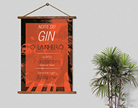 O Lanheiro Café-Bar / Gin & Karaoke Night // Poster