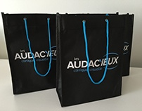 Branding, promotional objects, bags, graphic design.