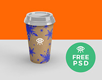 Craft paper Cup /Free Mockup