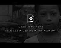 Oxfam // Donation Icons