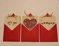 Valentine's wood cards