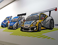 Tape art for brand- Racing cars for ZF-Engineering