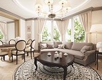 Classic design of apartment