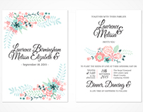 Wedding Stationary // Floral