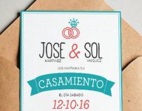 Invitación Jose y Sol