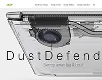 """Acer """"Dust Defender"""" Web Design"""