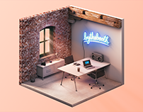 3D Isometric Booth