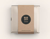 Burger Box Mockup - Photoshop .PSD
