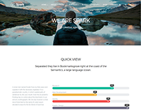 About Page - Spark WordPress Theme by Visualmodo