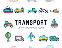 Transport Vector Free Icon Set
