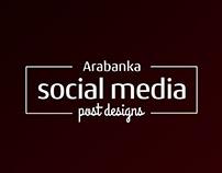 Arabanka Sosyal Medya Post Tasarımları
