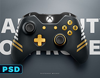 PLAYSTATION 4 & XBOX ONE CONTROLLER PSD Mockup Template