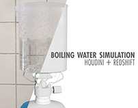 Houdini + Redshift - Boiling Water Simulation