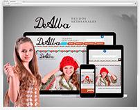 De Alba Tejidos Artesanales | Diseño Web Joomla