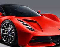 2020 Lotus Evija Red