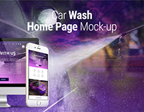 Car Wash Website Home Page