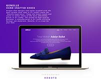 Genelle Shoes Website Design