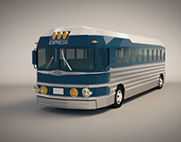 Low Poly Intercity Bus