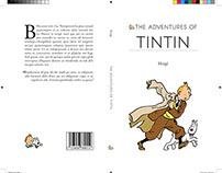 TINTIN Book Cover Design